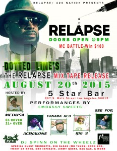 relapse mixtape flyer